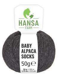 Baby Alpakawolle SOCKS Anthrazit Naturfarbe 50g