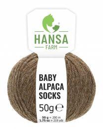 Baby Alpakawolle SOCKS Braun Naturfarbe 50g