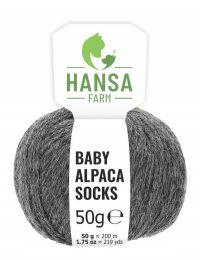 Baby Alpakawolle SOCKS Dunkelgrau Naturfarbe 50g
