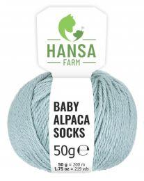 Baby Alpakawolle SOCKS Eisblau 50g