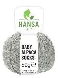 Baby Alpakawolle SOCKS Hellgrau Naturfarbe 50g