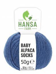 Baby Alpakawolle SOCKS Jeansblau 50g