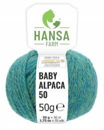 100% Baby Alpakawolle Bulky Blau-grün 50g