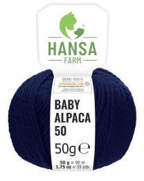 100% Baby Alpakawolle Bulky Dunkelblau 50g
