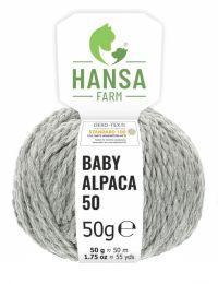100% Baby Alpakawolle Bulky Hellgrau 50g