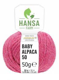 100% Baby Alpakawolle Bulky Himbeersahne 50g