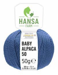 100% Baby Alpakawolle Bulky Jeansblau 50g