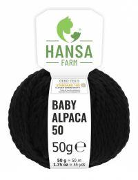 100% Baby Alpakawolle Bulky Schwarz 50g