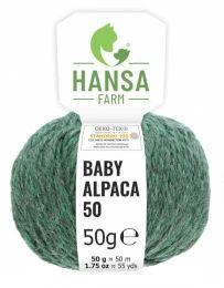 100% Baby Alpakawolle Bulky Smaragd 50g