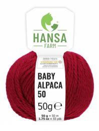 100% Baby Alpakawolle Bulky Weinrot 50g