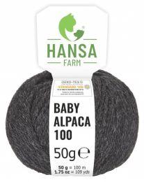 100% Baby Alpakawolle Anthrazit Naturfarbe 50g
