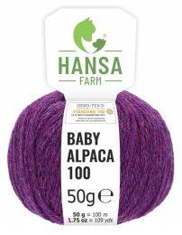 100% Baby Alpakawolle Lila heather 50g