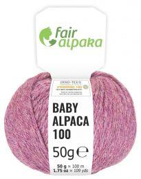 100% Baby Alpakawolle Beere heather 50g