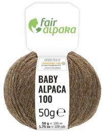 100% Baby Alpakawolle Braun Naturfarbe 50g