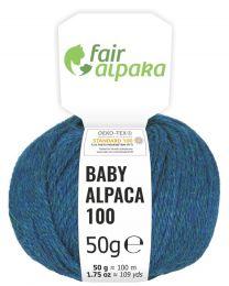 100% Baby Alpakawolle Deep Ocean heather 50g