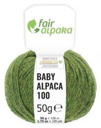 100% Baby Alpakawolle Mittelgrün heather 50g