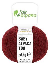 100% Baby Alpakawolle Weinrot 50g