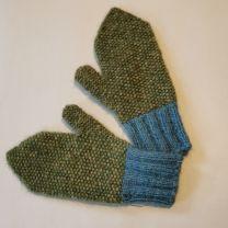 Babyalpaka Handschuhe grün-hellblau