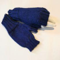 Babyalpaka Handschuhe  fingerlos blau