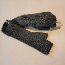 Babyalpaka Handschuhe fingerlos grau-grünlich