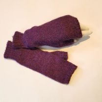 Babyalpaka Handschuhe  fingerlos violett