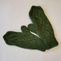 Babyalpaka Handschuhe grün