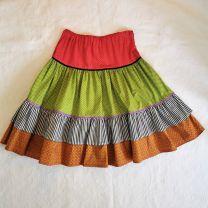 Kinderkleid Jupe handgenäht Grösse 128-134 (9 Jahre) verstellbar