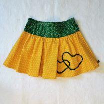 Kinderkleid Jupe handgenäht Grösse 104-110 (4-5 Jahre) verstellbar