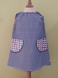 Kinderkleid handgenäht Grösse 104 (4 Jahre)