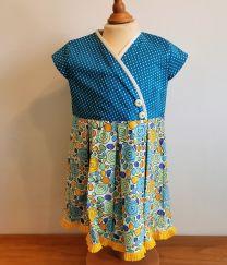 Kinderkleid handgenäht Grösse 110 (5 Jahr)