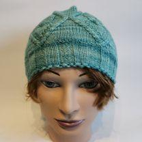 Seide-Merino-Mütze grünlich-mint