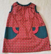 Kinderkleid handgenäht Grösse 92 (2 Jahre)