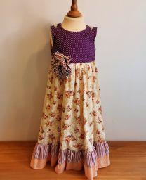 Kinderkleid handgenäht Grösse 110 (4-5 Jahre)