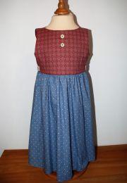 Kinderkleid handgenäht Grösse 122 (7 Jahre)