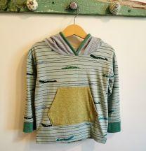 Kinderkleider Sweatshirt handgenäht Grösse 98 (3 Jahre)